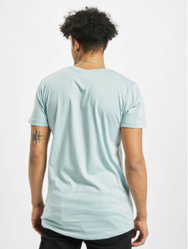 Urban Classics Hombres Camiseta Shaped Long in azul