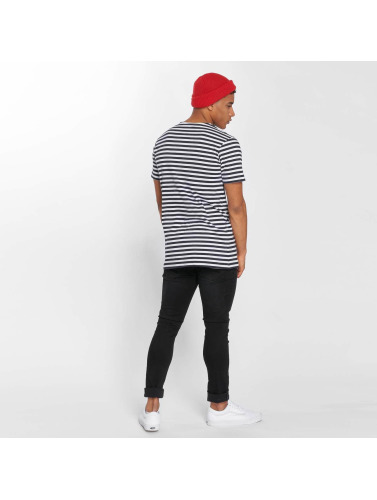Urban Classics Hombres Camiseta Stripe I Azul topp kvalitet billig få autentiske Gh2ZZZd