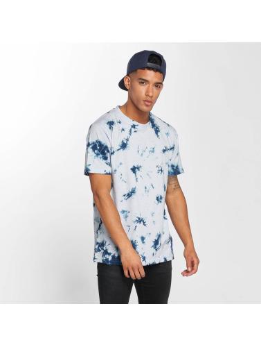 Urban Classics Hombres Camiseta Batik in azul
