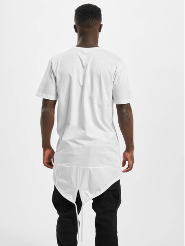 Urban Classics Hombres Camiseta Long Tail in blanco