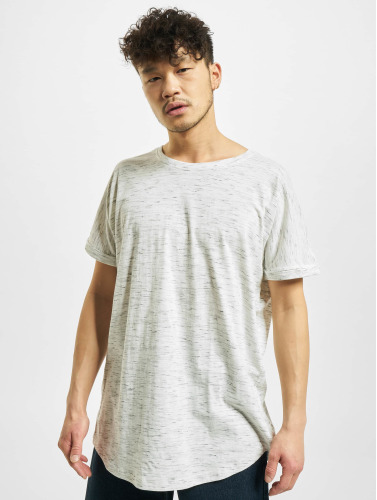 Urban Classics Hombres Camiseta Long Space Dye Turn Up in blanco