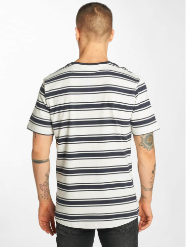Urban Classics Hombres Camiseta Double Stripe in blanco