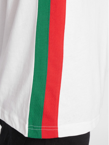 Urban Classics Hombres Camiseta Side Stripe Raglan in blanco