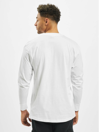 Urban Classics Hombres Camiseta de manga larga Tall in blanco
