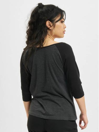 Ladies Urban gris Contrast 3 4 de Classics Mujeres Camiseta larga in manga PragYP