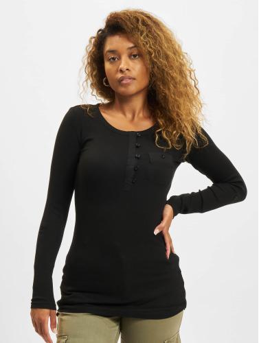 Urban Classics Kvinner Langermet Skjorte Damer Lang Rib Turnup Lomme I Svart utløp beste prisene kjøpe billig rabatter kjCTy