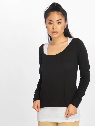 Urban Classics Mujeres Camiseta de manga larga Two Colored in negro