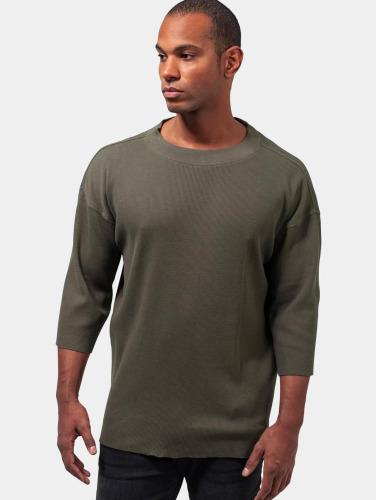 Urban Classics Menn Lang Hylse Termisk Skjorte I Oliven Boxy gratis frakt salg LOzggByO