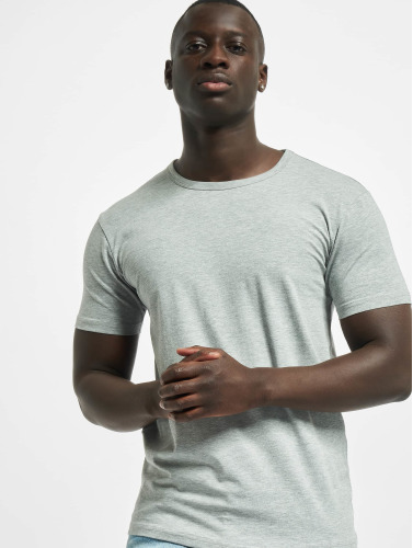 Urban Classics Hombres Camiseta Fitted Stretch in gris