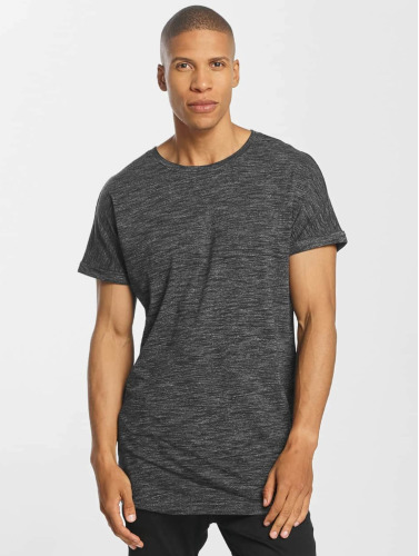 Urban Classics Hombres Camiseta Long Space Dye Turn Up in gris