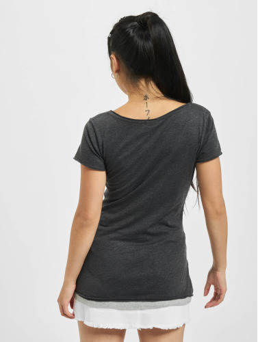Urban Classics Mujeres Camiseta Two Colored in gris