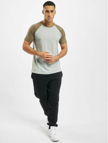 Urban Classics Hombres Camiseta Raglan Contrast in gris