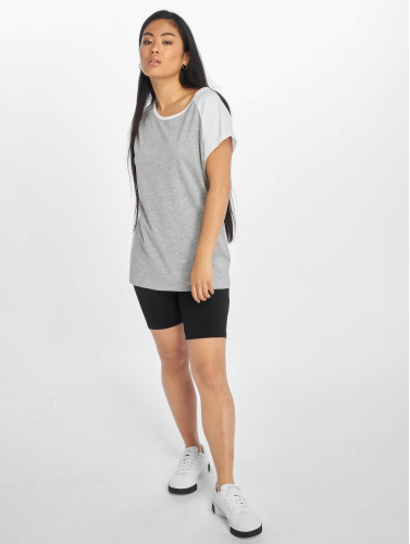 Urban Classics Mujeres Camiseta Kontrast I Gris utløp kostnaden kjøpe CsYqXDT