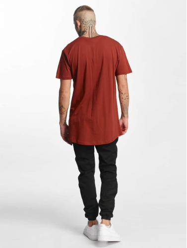 Urban Classics Hombres Camiseta Shaped Oversized Long in marrón