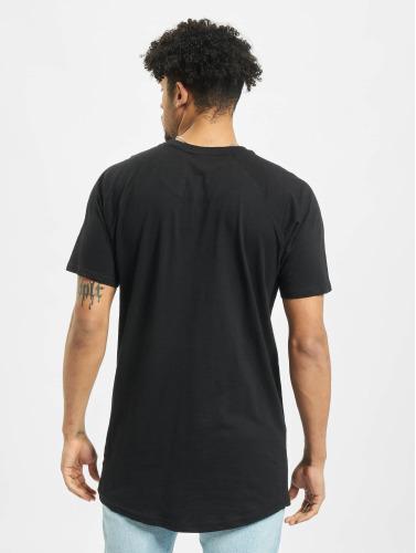 Urban Classics Hombres Camiseta Long Shaped Slub Raglan in negro