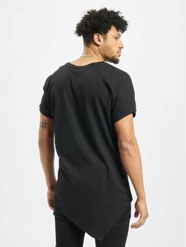 Urban Classics Hombres Camiseta Asymetric Long in negro