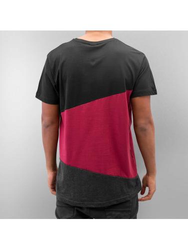 Urban Classics Hombres Camiseta Long Shaped Zig Zag in negro