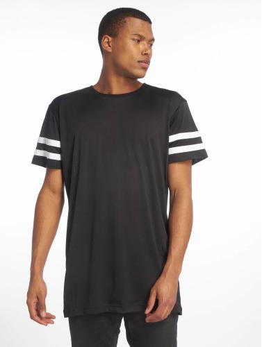 Urban Classics Hombres Camiseta Stripe Mesh in negro