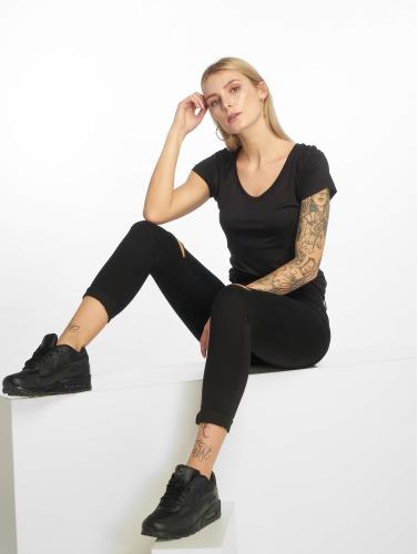 Urban Classics Mujeres Camiseta Ladies Basic Viscose in negro