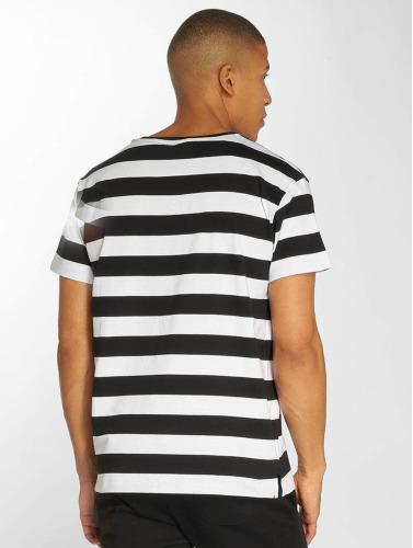 Urban Classics Hombres Camiseta Stripe in negro