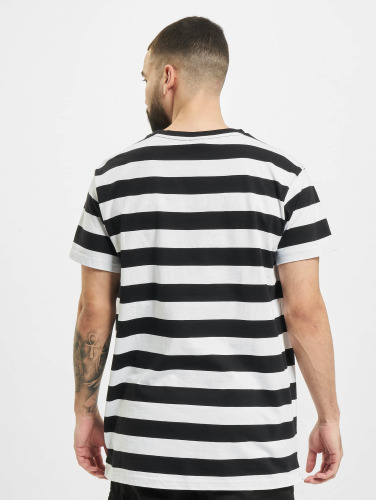 Urban Classics Hombres Camiseta Block Stripe in negro