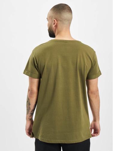 Urban Classics Hombres Camiseta Turnup in oliva