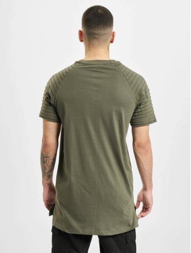 Urban Classics Hombres Camiseta Pleat in oliva