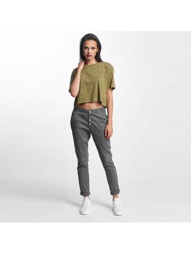 Urban Classics Mujeres Camiseta Tilfeldig Vask Kort Oversize I Oliva alle størrelse salg bla billig salg butikk 0uajb