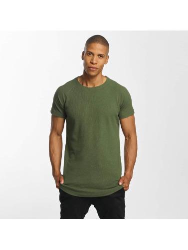 Urban Classics Hombres Camiseta Thermal Slub in oliva