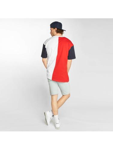 Urban Classics Hombres Camiseta Harlequin in rojo