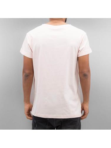 Urban Classics Hombres Camiseta Turnup in rosa