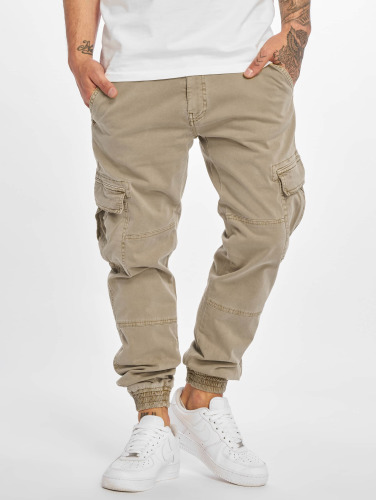 Urban Classics Herren Cargohose Washed Cargo Twill Jogging in beige