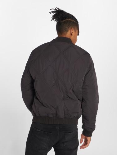 Urban Classics Hombres Cazadora bomber Big Diamond Quilt in negro