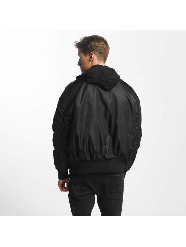Urban Classics Hombres Cazadora bomber Hooded Oversized in negro