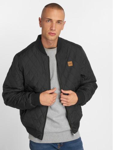 Urban Classics Hombres Chaqueta de entretiempo Diamond Quilt Nylon in negro