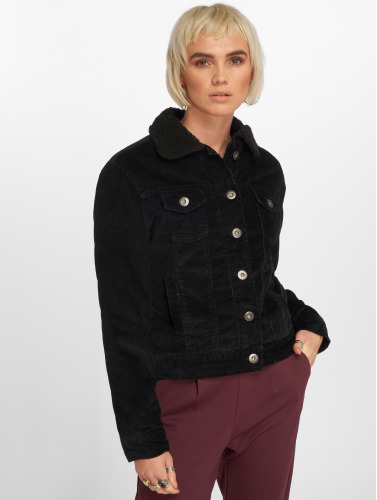 Urban Classics Mujeres Chaqueta de entretiempo Sherpa Cordury in negro