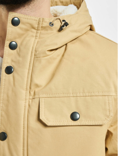 Urban Classics Hombres Chaqueta de invierno Heavy Cotton in beis
