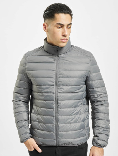 Urban Classics Hombres Chaqueta de invierno Basic Down in gris