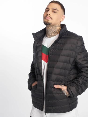 Urban Classics Hombres Chaqueta de invierno Basic Down in negro