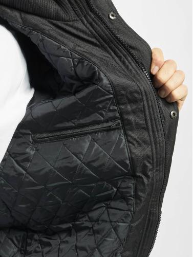 Urban Classics Hombres Chaqueta de invierno Heavy Hooded in negro