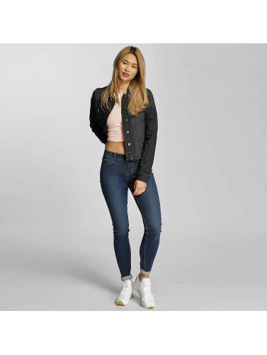 Urban Classics Mujeres Chaqueta Vaquera Ladies Denim in negro