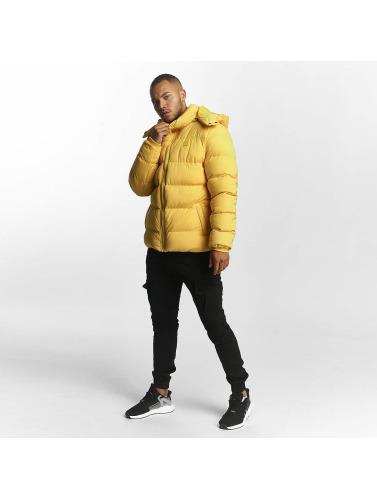 Urban Classics Hombres Chaquetas acolchadas Hooded Boxy Puffer in amarillo