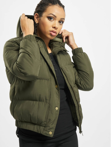 Urban Classics Mujeres Chaquetas acolchadas Hooded Puffer in oliva