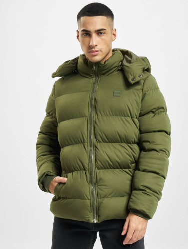 Urban Classics Hombres Chaquetas acolchadas Hooded Boxy Puffer in oliva