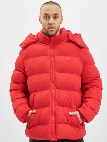 Urban Classics Hombres Chaquetas acolchadas Hooded Boxy Puffer in rojo