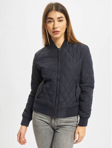 Urban Classics Damen College Jacke Diamond Quilt Nylon in blau