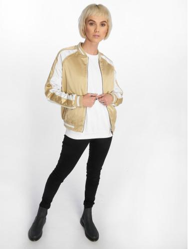 Urban Classics Damen College Jacke 3 Tone Souvenir in goldfarben