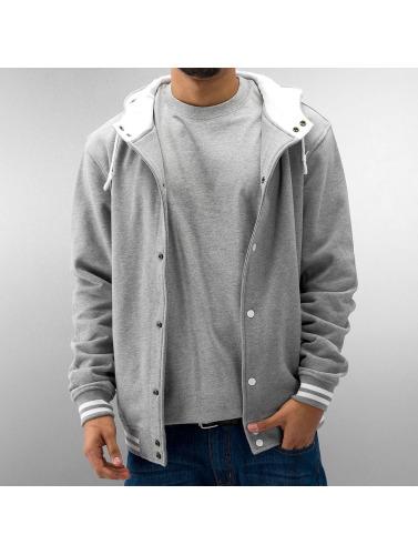 Urban Classics Herren College Jacke Hooded in grau