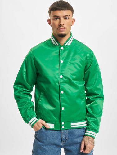 Urban Classics Herren College Jacke Shiny in grün Austrittskosten Günstiges Shop-Angebot 0WbUKR