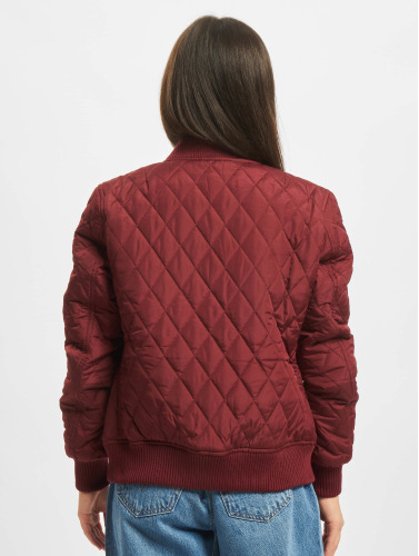 Urban Classics Damen College Jacke Diamond Quilt Nylon in rot